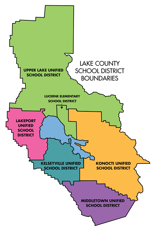 Map of Lake County School Districts